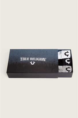 True Religion LONG LENGTH 3 PACKS BOXER BRIEFS BOX