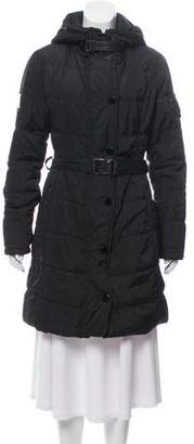 Gorski Apres Ski Leather-Trimmed Knee-Length Coat