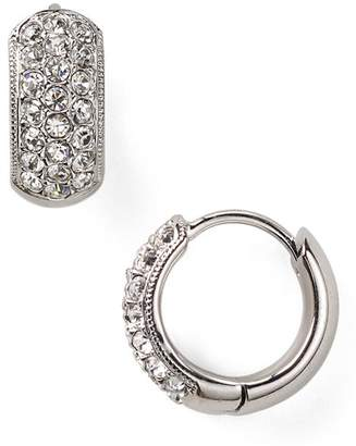 Nadri Tiny Pavé Huggie Hoop Earrings