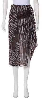 Zero Maria Cornejo Textured Midi Skirt w/ Tags