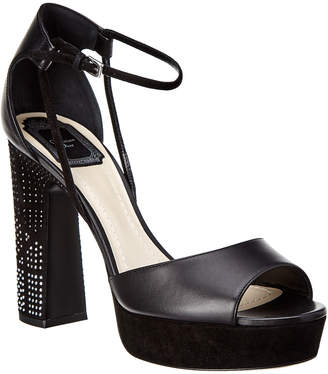 Christian Dior Studded Platform Leather Sandal