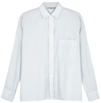 Vince Pale Blue Cotton And Silk Blend Shirt