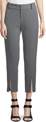 Alice + Olivia Stacey Front Slit Ankle Crepe Pants