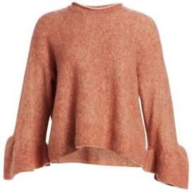 3.1 Phillip Lim Alpaca& Wool Blend Ruffle Cuff Sweater