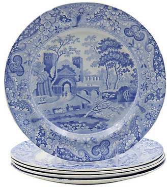 ... One Kings Lane Vintage 1820s Spode Italian Dinner Plates - Set of 5 - Rose Victoria  sc 1 st  ShopStyle & Italian Dinner Plates - ShopStyle