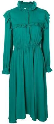 Jovonna ruffle-trimmed asymmetric dress