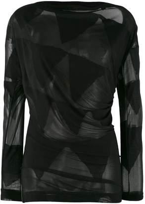Vivienne Westwood sheer bunting blouse