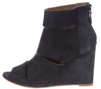 Hermes Suede Wedge Ankle Boots