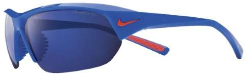 Nike Skylon Ace Team Sunglasses - EV0891 (Game Royal/Team Orange Frame (Grey w/Blue Night Flash Lens))