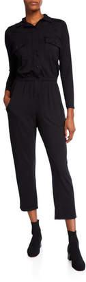 Rachel Pally Long-Sleeve Jersey Snap Jumpsuit