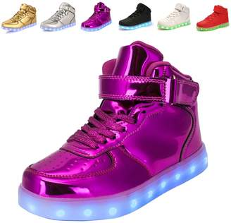3.1 Phillip Lim Anluke 11 Colors LED Sneakers Light Up Flashing Shoes for Christmas Boys Girls Men and Women 40