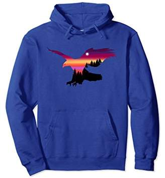 Beautiful Flying Eagle Surreal Sky Silhouette T-Shirt Hoodie