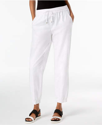 Eileen Fisher Organic Cotton Tapered Pants, Created for Macy's