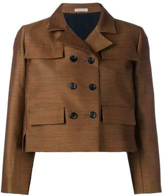 Bottega Veneta double-breasted cropped jacket