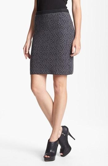 Eileen Fisher 'Meridon Dot' Felted Merino Skirt