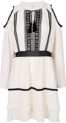 Blugirl cold shoulder ruffle dress