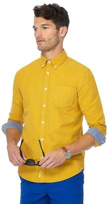 Racing Green - Big And Tall Yellow Tailored Fit Oxford Shirt