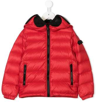 AI Riders On The Storm Kids hooded padded jacket