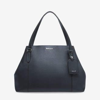 Bally Seraphine Blue, Women's medium split bovine leather tote bag in ink