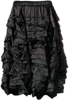 Comme des Garcons tiered ruched shorts