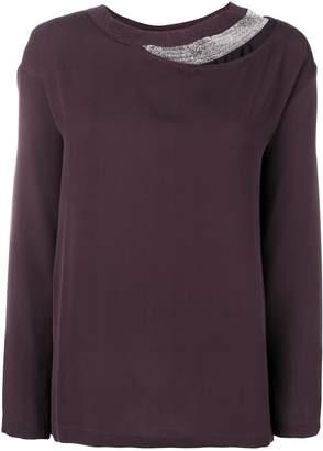 Fabiana Filippi layered long sleeved blouse