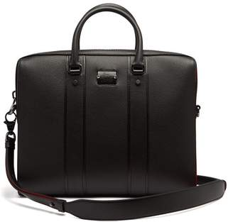f084bc978418 Christian Louboutin Streetwall Leather Briefcase - Mens - Black