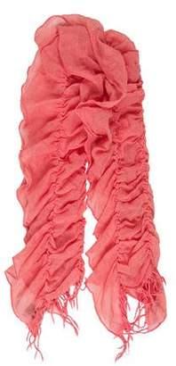 Barneys New York Barney's New York Wool Ruched Scarf