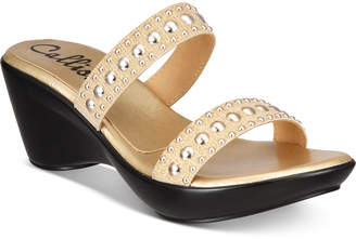Callisto Beguile Slide Studded Platform Wedge Sandals, Created for Macy's