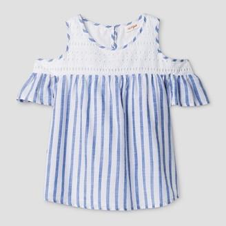 Cat & Jack Girls' Cold Shoulder Top Cat & Jack - Blue Stripe $12.99 thestylecure.com
