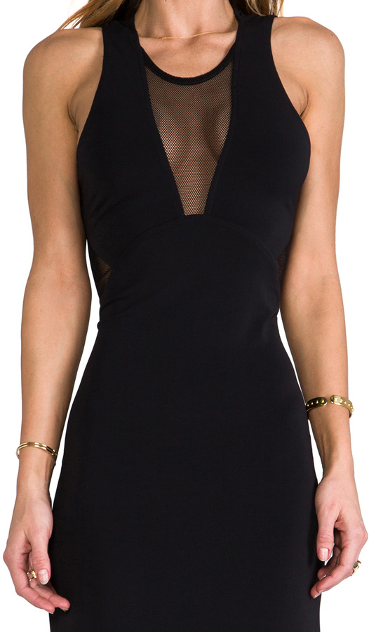 Yigal Azrouel Cut25 by Mesh Insert Gown