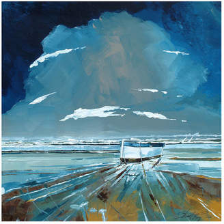 Stuart Roy Boat And Sea Canvas Painting