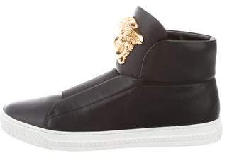 Versace Leather Palazzo Sneakers