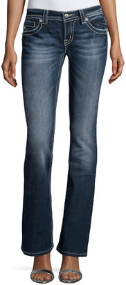 Miss Me Faded Skinny Boot-Cut Denim Jeans, Medium Wash 297 $69 thestylecure.com