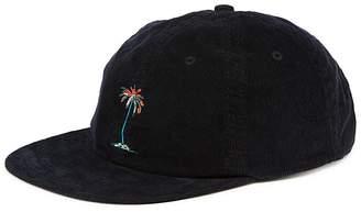 BANKS Lei Lei Embroidered Palm Tree Corduroy Cap