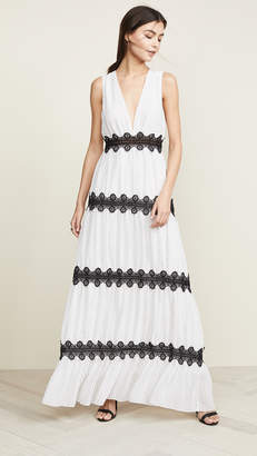 Glamorous White Black Pinspot Dress