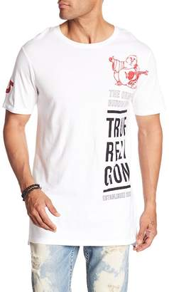 True Religion Long Buddha Crew Neck Shirt