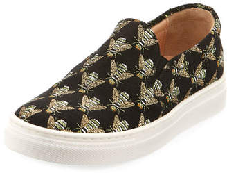 Aquazzura Cosmic Slip-On Bee Sneaker, Infant