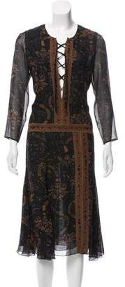 Barbara Bui Printed Silk Dress w/ Tags