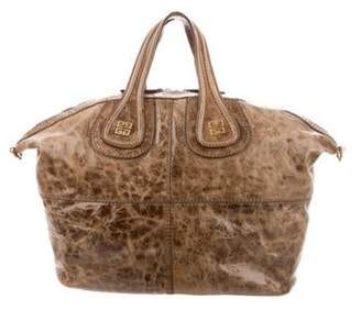 Givenchy Distressed Patent Leather Nightingale Bag Brown Distressed Patent Leather Nightingale Bag