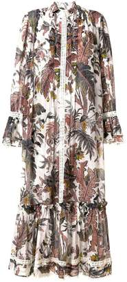 Etro foliage print long dress