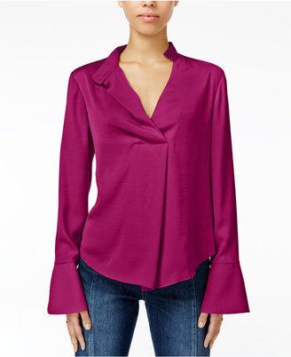 RACHEL Rachel Roy Bell-Sleeve Blouse, Only at Macy's $89 thestylecure.com