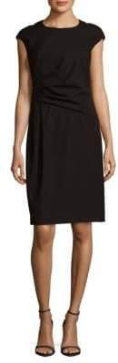 Lafayette 148 New York Sleeveless Crewneck Cotton Blend Dress