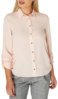 Dorothy Perkins Blush Tab Roll Sleeve Shirt