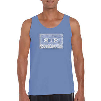 LOS ANGELES POP ART Los Angeles Pop Art The 80's Word Art Tank Top- Men's Big and Tall