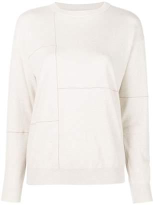 Brunello Cucinelli patchwork-embellished cashmere jumper