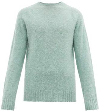 Officine Generale Brushed Wool Sweater - Mens - Blue