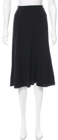 prada Prada Flared Knee-Length Skirt