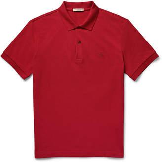 Burberry Slim-Fit Cotton-Pique Polo Shirt - Men - Claret