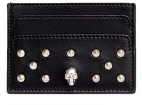 Alexander McQueen Alexander McQueen Skull stud leather card holder