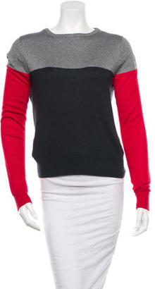 Boy. by Band of Outsiders Silk Colorblock Sweater $70 thestylecure.com